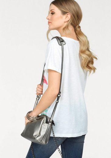 Miss Goodlife Rundhalsshirt, mit Flamingo-Print