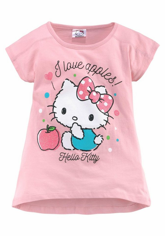 Hello kitty t shirt mit hello kitty glitzerdruck otto for Hello kitty t shirt design