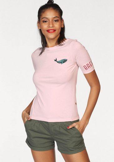 Funky Buddha T-Shirt, mit maritimer Stickerein