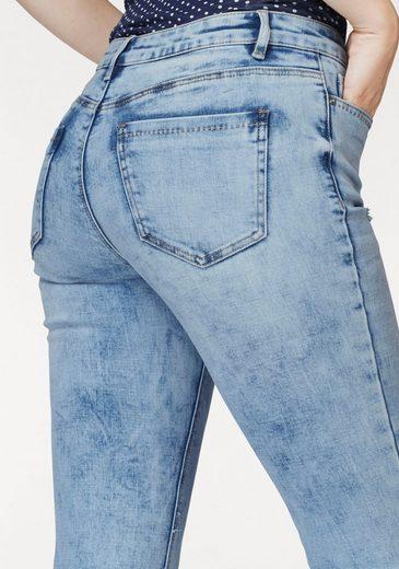 AJC Ankle-Jeans, mit offener Kante und destroyed Effekten