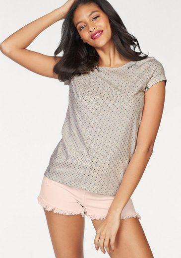 Ragwear Rundhalsshirt Mint Dots, mit Allover-Pünktchen-Print