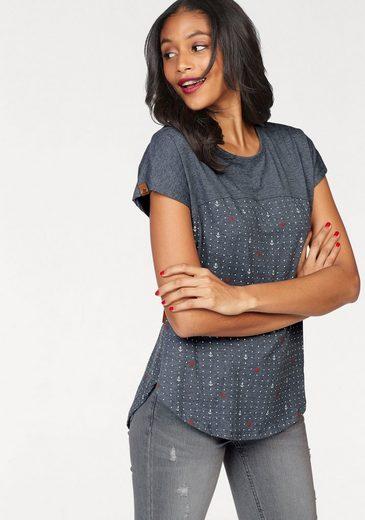 alife and kickin T-Shirt CLARA B, in angesagter 2-Tone-Optik