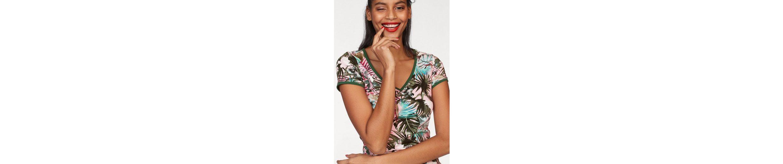 AJC V-Shirt, mit floralem Alloverprint