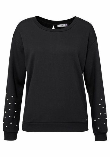 AJC Sweatshirt, mit Zierperlen an den Ärmeln