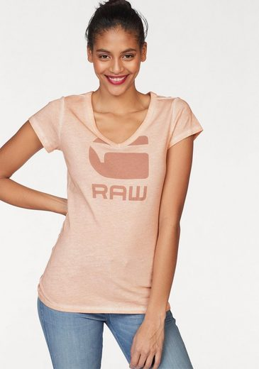 G-Star RAW V-Shirt Suphe, mit Logo Frontdruck