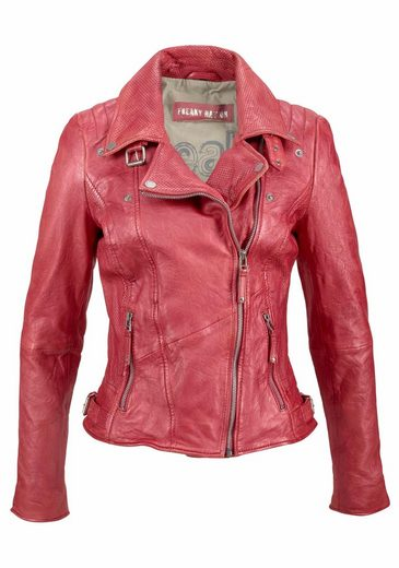 Freaky Nation Leather Jacket New Love, With Angled Zipper