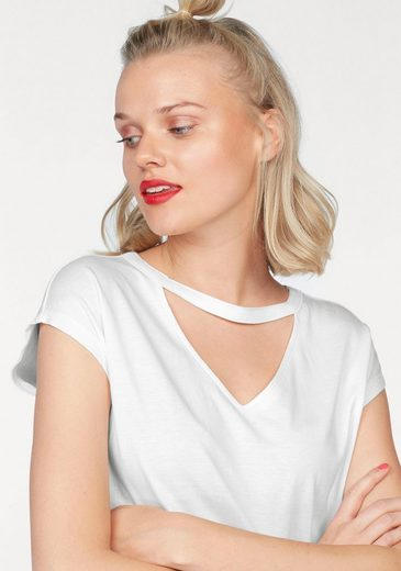 AJC V-Shirt, mit V-Ausschnitt und Choker Kragen