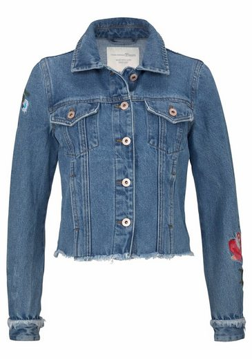 Tom Tailor Denim Jeansjacke, mit Stickerei