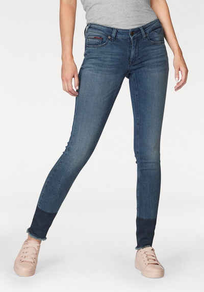 3fe3041437f60 TOMMY JEANS Skinny-fit-Jeans »Sophie« mit ausgefranstem Saum
