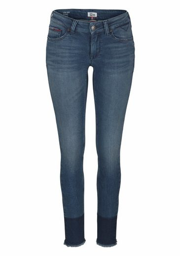 TOMMY JEANS Skinny-fit-Jeans Sophie, mit ausgefranstem Saum