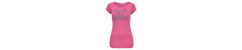 Rich & Royal Rundhalsshirt, mit Glitzer-Logo