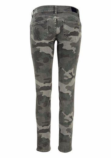 Le Temps Des Cerises Slim-fit-Jeans BALIA, in Trendfarbe Camouflage