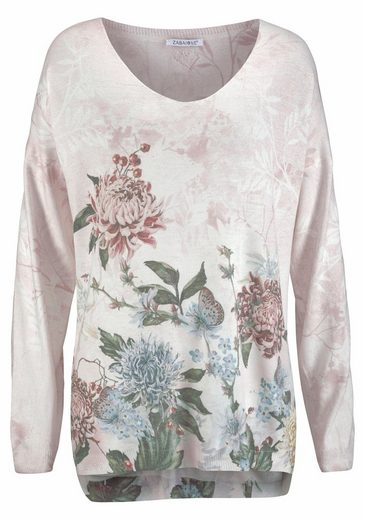 Print Zabaglione Knitted Sweaters Fleur, With Trendy