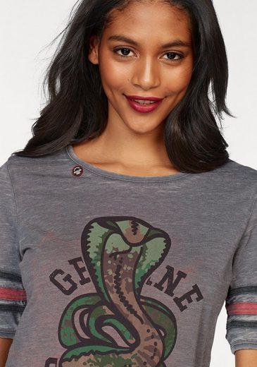 khujo T-Shirt Nikita, mit coolem Frontdruck