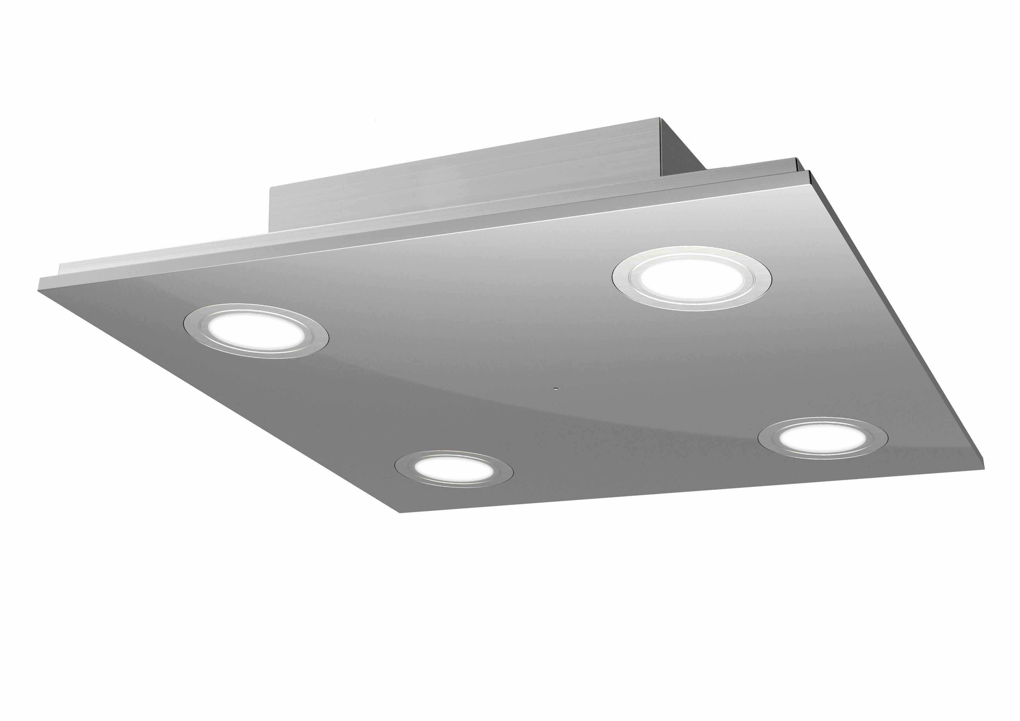 EVOTEC LED-Deckenleuchte, 4-flg., »PANO« | Lampen > Deckenleuchten > Deckenlampen | Edelstahl | EVOTEC