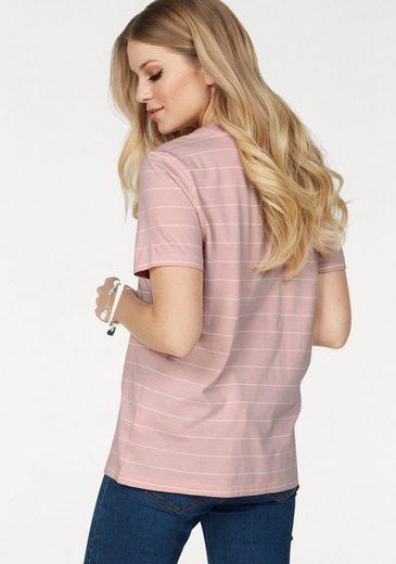 SELECTED FEMME Rundhalsshirt PERFECT TEE, mit feinen Streifen in Baumwollqualität