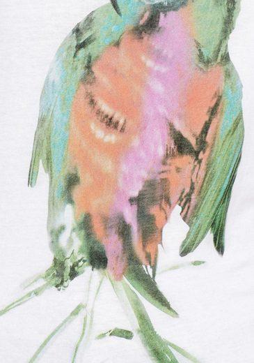 AJC Rundhalsshirt, mit großem Papagei-Print