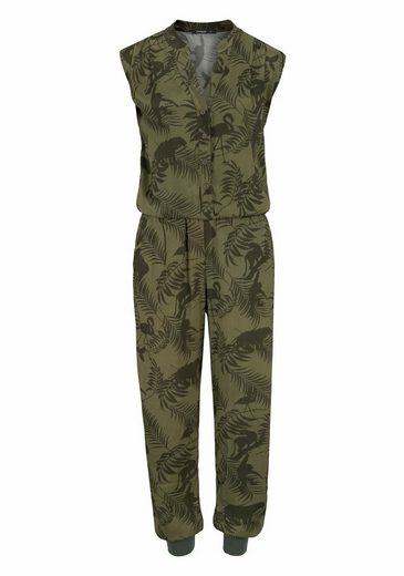 Desigual Jumpsuit, With Jungle Print