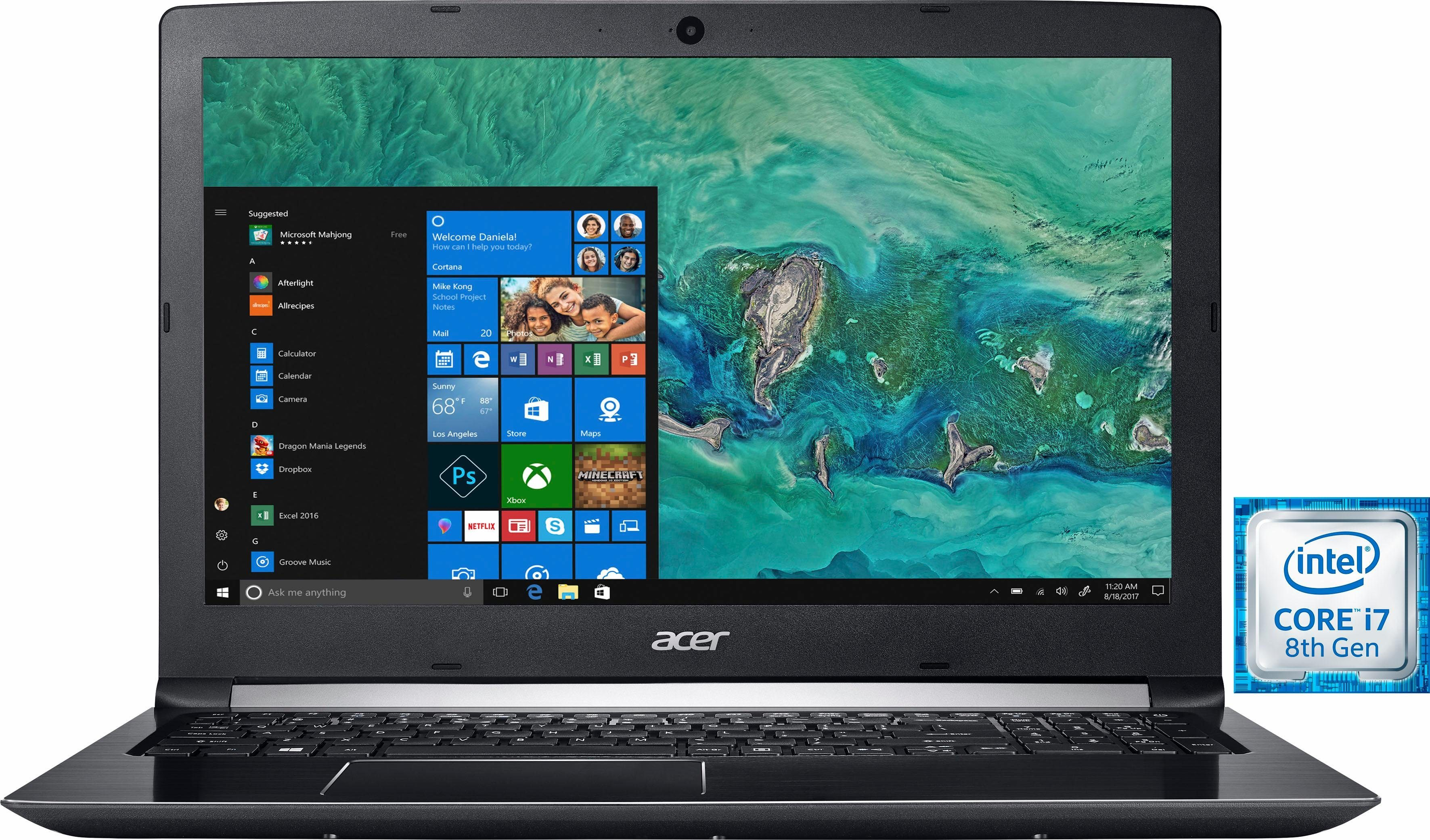 Acer Aspire 5 (A515-51G-8107) Notebook (39,62 cm/15,6 Zoll, Intel Core i7, GeForce® MX150, 1000 GB HDD, 128 GB SSD)