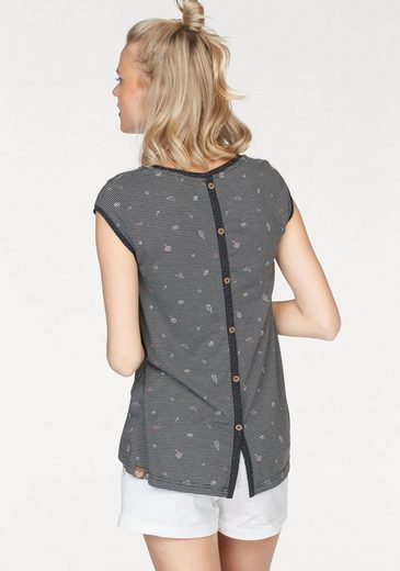 Ragwear Longtop Dominica, With Decorative Button Tape On The Back