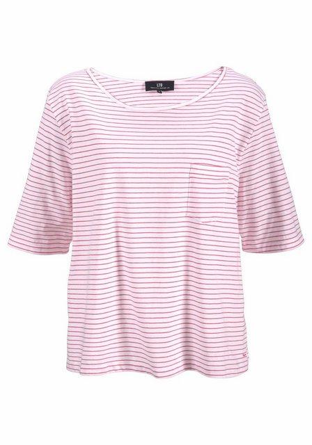 Damen LTB T-Shirt TAYIJO in lässiger Form weiß | 08697600322919