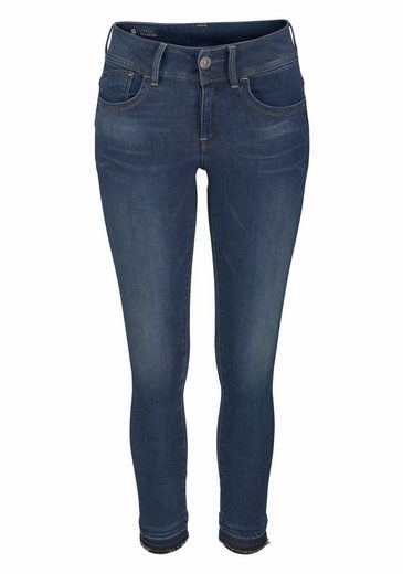 G-Star RAW Skinny-fit-Jeans Lynn Mid Skinny rp Ankle, mit leicht ausgefranster Kante