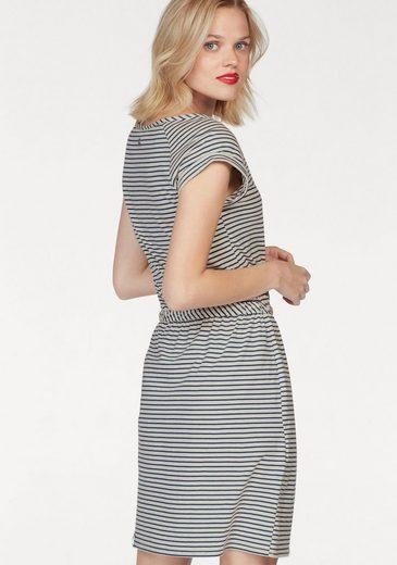 Ragwear Jerseykleid Glitter Organic, im Streifen-Design