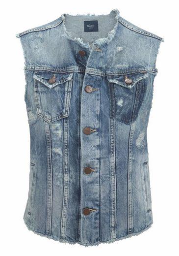 Jeans Jeansweste Valley, Mit Used-effekten