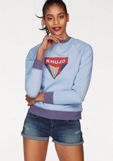 khujo Sweatshirt Darinka, mit Logo Frontdruck
