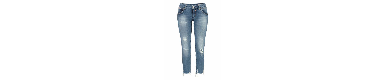 Herrlicher Slim-fit-Jeans TOUCH CROPPED, mit ausgefranstem Bein