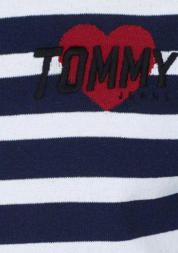 TOMMY JEANS Rundhalspullover, mit Stickerei