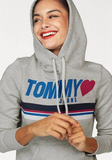 TOMMY JEANS Kapuzensweatshirt, mit Logo-Print
