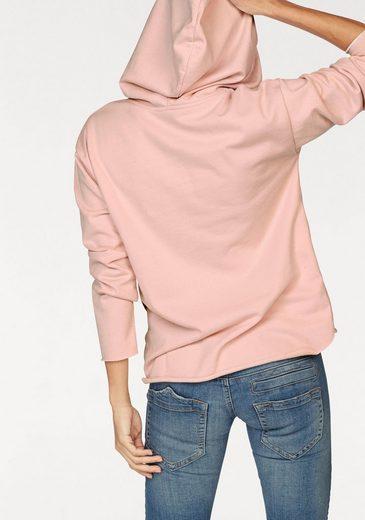 Herrlicher Kapuzensweatshirt SONJA, mit geschnittenen Kanten