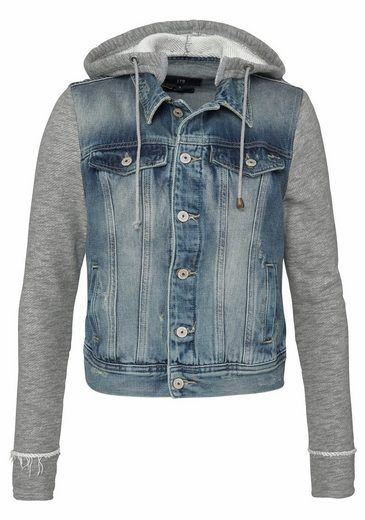 Ltb Denim Jacket Melly With Removable Hooded Sweat