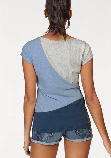Ragwear Rundhalsshirt Mint Block, im Colourblocking Design