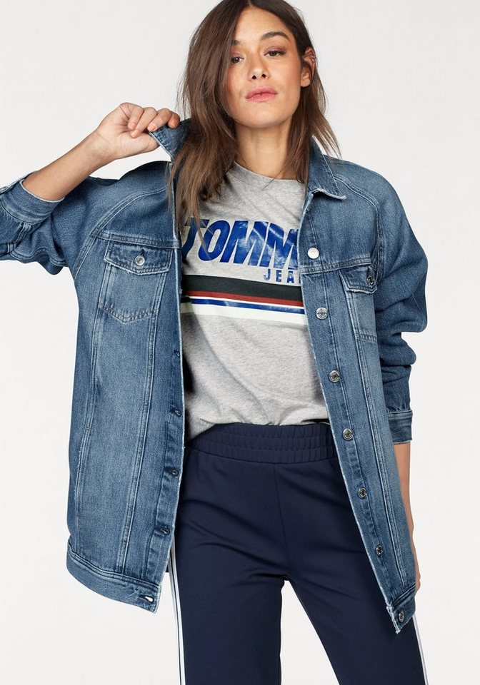 Tommy jeans jeansjacke in oversized form kaufen otto - Jeansjacke damen oversize ...