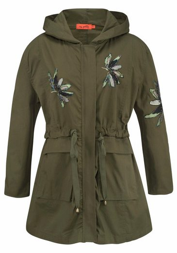 Miss Goodlife Parka, mit Glitzer-Applikationen