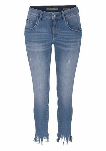 Mavi Jeans Skinny-fit-Jeans ADRIANA ANKLE, im Used-Look