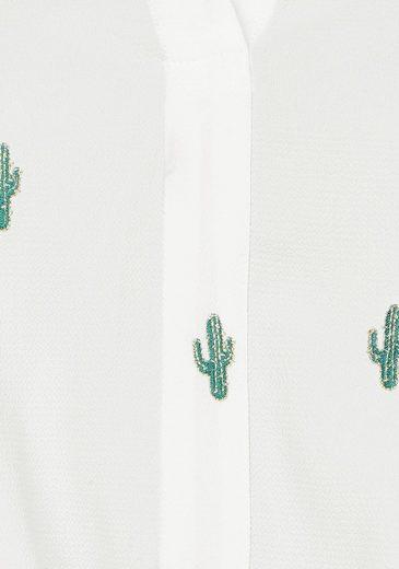 Schlupfbluse Cerises Des Le stickerei Temps Allover Mit »spiky« q8tv4Ew