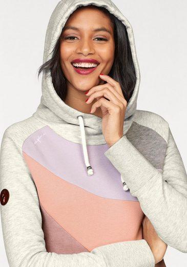MAZINE Kapuzensweatshirt ERVIE, im Colourblocking-Design