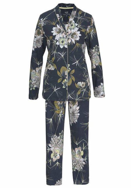 Calida Pyjama im klassischer Form mit Blumenprint