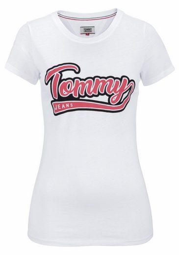 TOMMY JEANS Rundhalsshirt, mit Logo-Print
