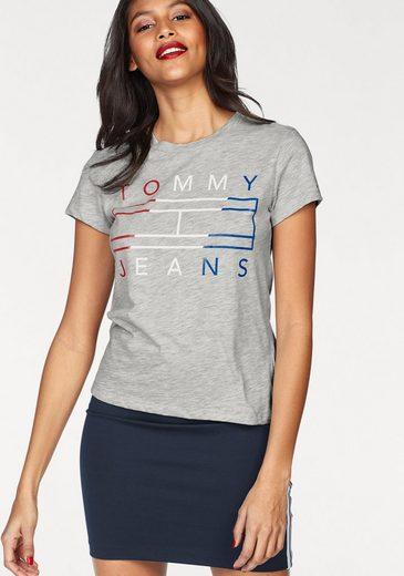 TOMMY JEANS Rundhalsshirt, mit metalicfarbenen Print