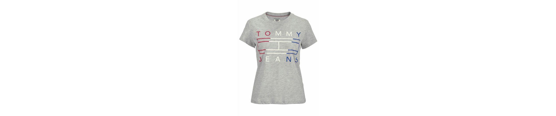 Print JEANS mit TOMMY JEANS TOMMY Rundhalsshirt metalicfarbenen qwB4nSYxO