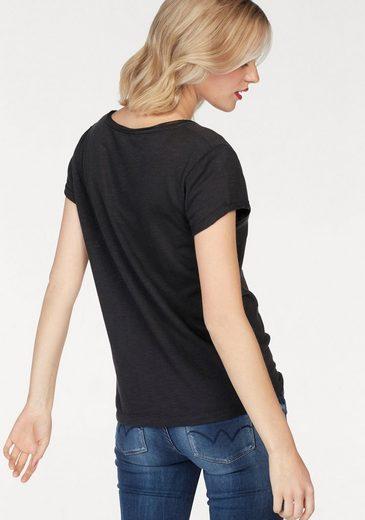 Le Temps Des Cerises T-Shirt MURPHY, mit Nietendetails in Glitzer-Optik