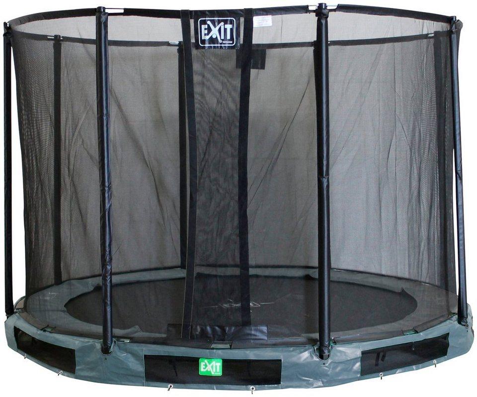 exit trampolin interra 427 cm grau mit. Black Bedroom Furniture Sets. Home Design Ideas