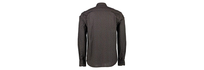 Freies Verschiffen Echte LERROS Langarmhemd mit kleinem Alloverprint Verkauf Manchester QBPKCKHfCj
