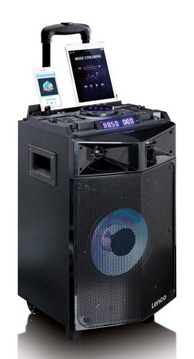 Lenco Mobiles Soundsystem, DJ Mixer mit Bluetooth, USB & Partylicht »PMX-240«