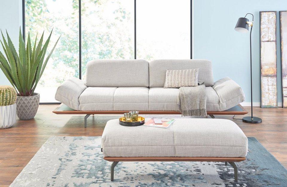 Polstermöbel leder oder stoff  hülsta sofa 4-Sitzer Sofa »hs.420« wahlweise in Stoff oder Leder ...