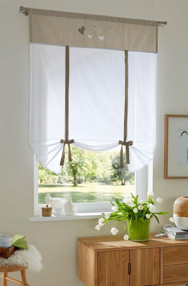 raffrollo adama home affaire mit stangendurchzug online kaufen otto. Black Bedroom Furniture Sets. Home Design Ideas